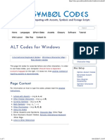 Symbol Codes _ ALT Codes for Windows