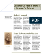 A History of General Gordon's Statue at Gordon's School -Arial