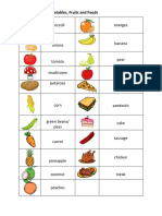 Vocabulary - Vegetables, fruits and foods.docx