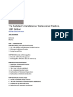 AIA Architect's Handbook - 15th Edition - TOC.docx
