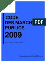 CMP 2009 Code Des Marches Publics 2009