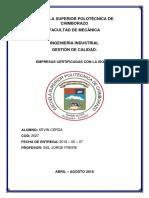 EMPRESAS CERTIFICADAS ISO 9001.docx