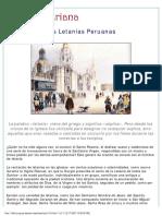 Las Letanías Peruanas