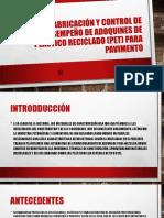 Fabricación y Control de Desempeño de Adoquines De