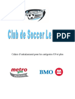 Cahier Dentrainement U9-U16