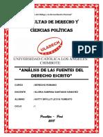 Análisis de Las Fuentes Del Derecho Escrito