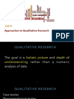 Approaches to Qualitative Research PPT