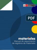 SEGUIMIENTO DE MATERIALES