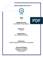 Didáctica Especial de Las Ciencias de La Naturaleza Tarea 1 y 2