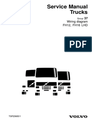 D12A TSP23665-Wiring Diagram FH12, FH16 LHD - Copy.pdf | Electrical  Connector | Relay | Volvo Fh12 Wiring Diagram Pdf |  | Scribd