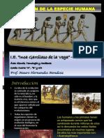 EVOLUCION DE LA ESPECIE HUMANA.ppt