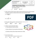Ficha Formativa 7º Equações