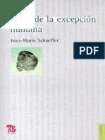 El fin de la excepción humana [Jean-Marie Schaeffer].pdf