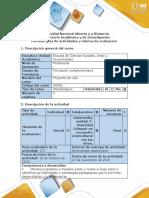 Guía de Actividades y Rubrica de Evaluación -Fase 3- Identidad Cultural - Un Encuentro Intercultural Con Los Otros