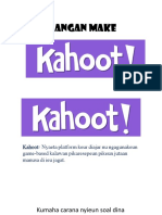 Materi Workshop - Penggunanaan Kahoot  untuk media pembelajaran