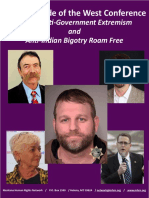 Code of the West Report From Montana Human Rights Network