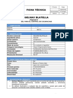 Ficha Técnica Gelmax Blatella