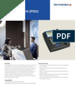 Ilco Front Desk Unit Fdu Fact Sheet m3568