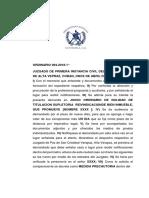 Ejemplo Decreto Tramite Por Recibido Primera Instancia Juzgado Civil