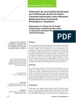 Cartilha Interaçoes medicamentosa fitoterapicos e alopaticos