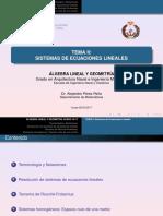 Tema Ii_ Sistemas de Ecuaciones Lineales
