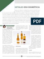 Articulo Aceites Vegetales en Cosmetica