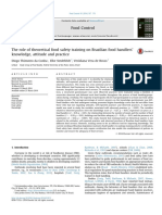 The Role of Theoretical Food Safety Training on Brazilian Food Handlers' Knowledge, Attitude and Practice