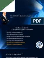 ISO 9001:2015 Qualitätsmanagement