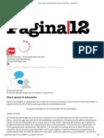 Macri Ajusta La Educación _ El Recorte Del Plan Pro... _ Página12