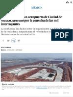 NAICM_ El Futuro Del Nuevo Aeropuerto de Ciudad de México, Lastrado Por La Consulta de Las Mil Interrogantes _ Internacional _ EL PAÍS