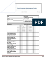 Electrical Transformer Inspection Checklist Form