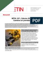 Cambio en Prendas NFPA 1971