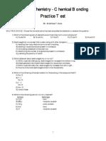 Honors Chemistry - Chemical Bonding Practice Exam