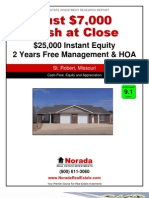 $0 Zero-Down Cash-Flow Duplexes in Missouri