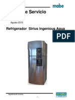 Mabe refrigerador Manual de Servicio Sirius AQUA