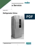 Mabe refrigerador Manual de Servicio Sirius Rev9