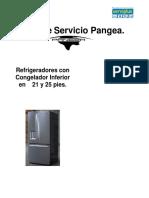 Mabe refrigerador Manual de Servicio Pangea Rev2