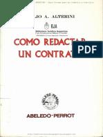 Cómo Redactar Un Contrato - Alterini, Atilio a.