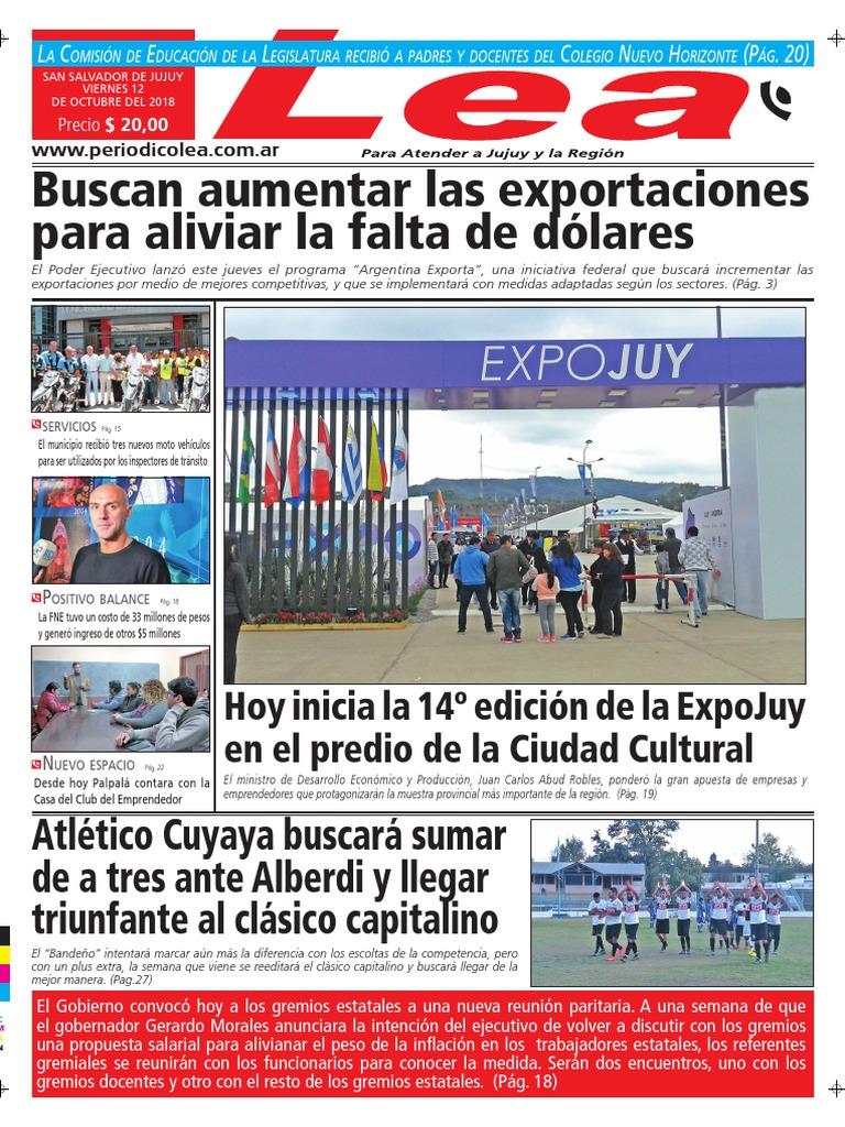 Periódico Lea Viernes 12 de Octubre Del 2018 5bfcc2bb22f