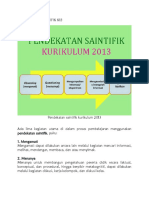 PENDEKATAN SAINTIFIK K13