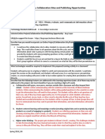 itech online learning project lesson idea template