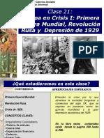 HU 21 1era Guerra Mundial, Rev Rusa y Crisis Del 29