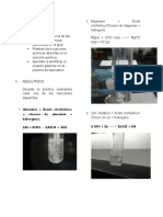 Informe Laboratorio Reacciones Quimicas