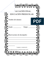 Cuadernillo de evaluacion 3° de preescolar.