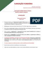 A Regularização Fundiária Rural e Urbana - Reurb S, Reurb E e Reurb-I