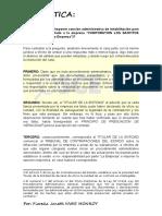Corresponde o no imponer sanción administrativa de inhabilitación para contratar con el estado a la empresa.docx
