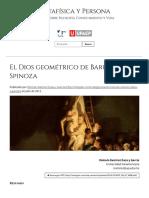 El Dios Geométrico de Baruch Spinoza