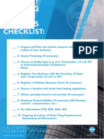 Business - Starting a New Business Checklist