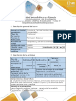 Guía de Actividades y Rúbrica de Evaluación Tarea 4 - Geopoliticas Del Arte Contemporaneo