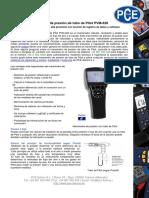 Hoja Datos Sensor de Pitot
